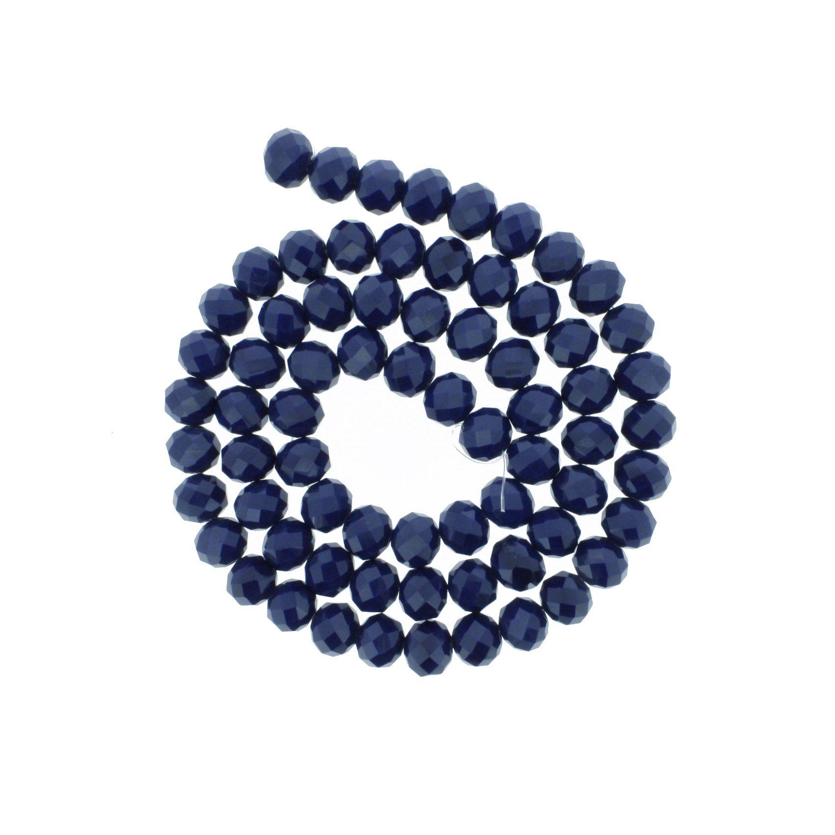 Fio de Cristal - Piatto® - Azul Marinho - 10mm  - Universo Religioso® - Artigos de Umbanda e Candomblé
