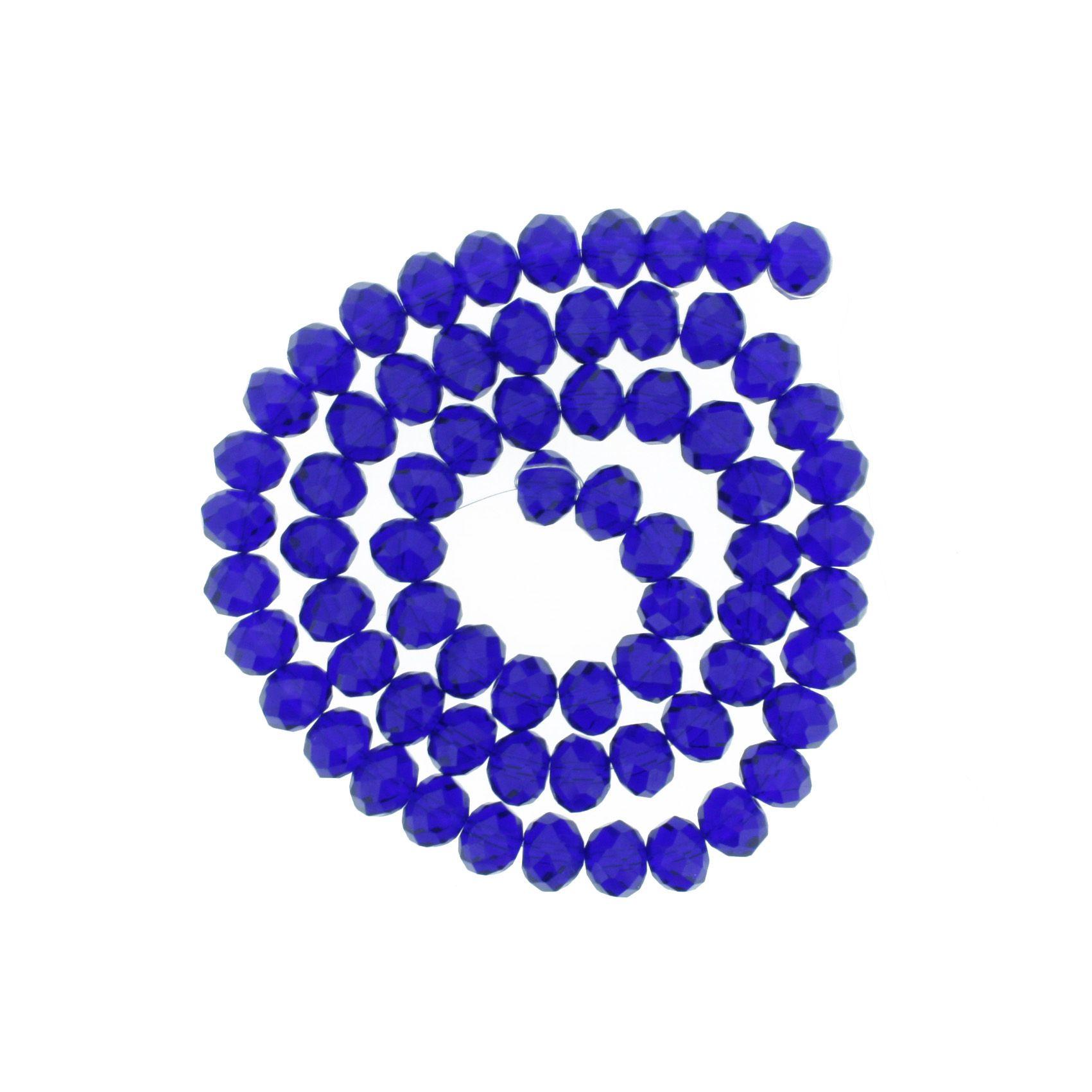 Fio de Cristal - Piatto® - Azul Royal Transparente - 10mm  - Universo Religioso® - Artigos de Umbanda e Candomblé