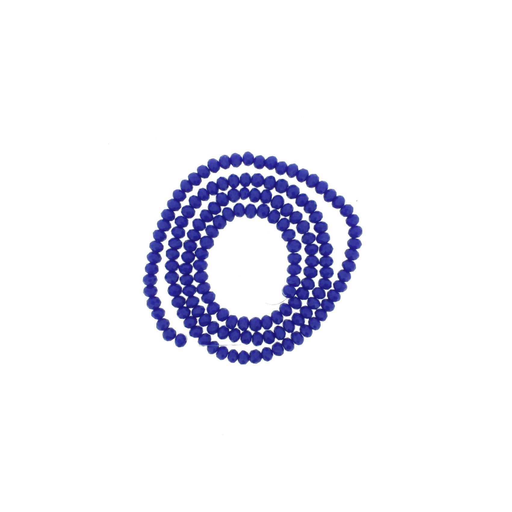 Fio de Cristal - Piatto® - Azul Royal - 4mm  - Universo Religioso® - Artigos de Umbanda e Candomblé