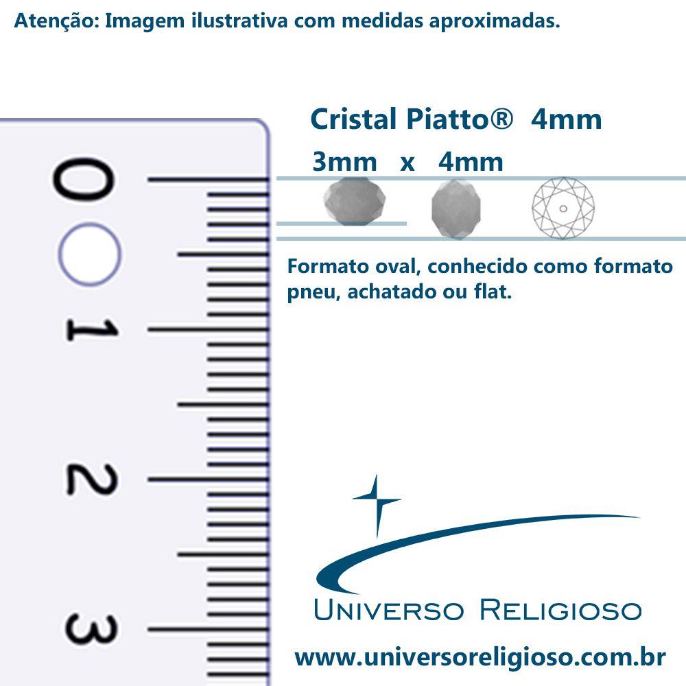 Fio de Cristal - Piatto® - Bege Irizado Transparente - 4mm  - Universo Religioso® - Artigos de Umbanda e Candomblé