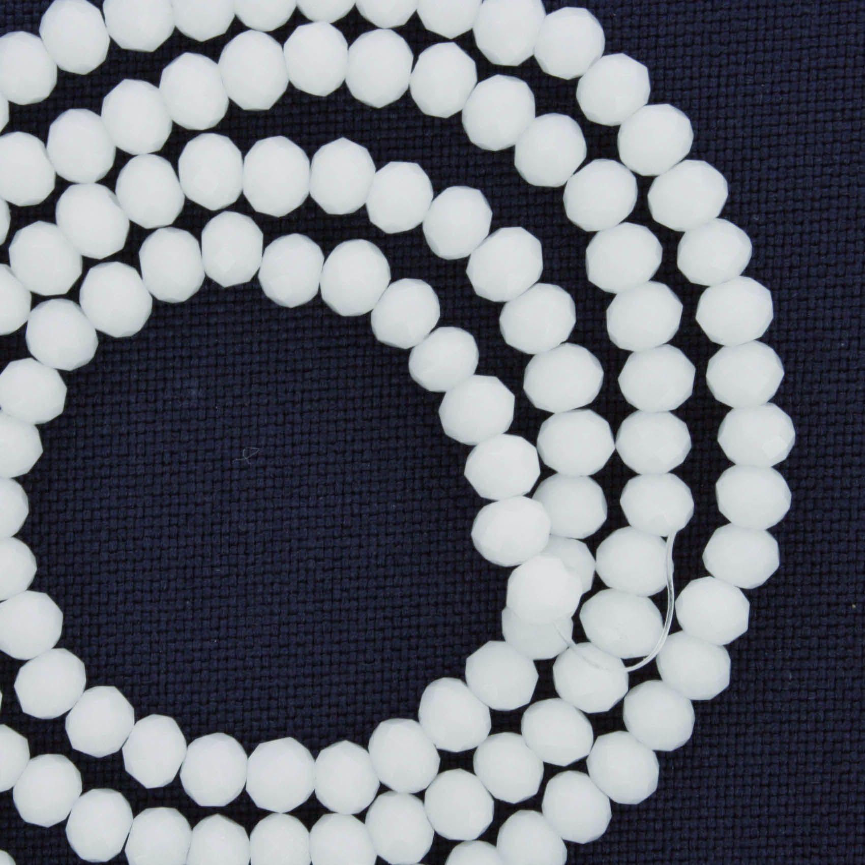 Fio de Cristal - Piatto® - Branco - 4mm  - Universo Religioso® - Artigos de Umbanda e Candomblé