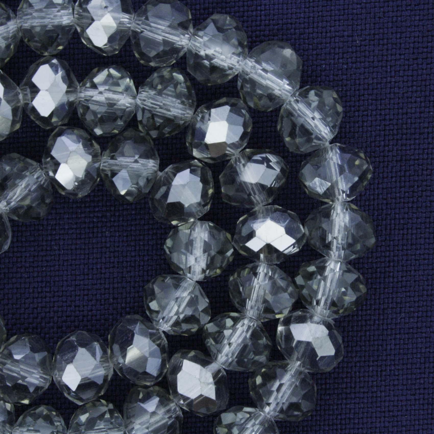 Fio de Cristal - Piatto® - Fumê Prateado - 8mm  - Universo Religioso® - Artigos de Umbanda e Candomblé