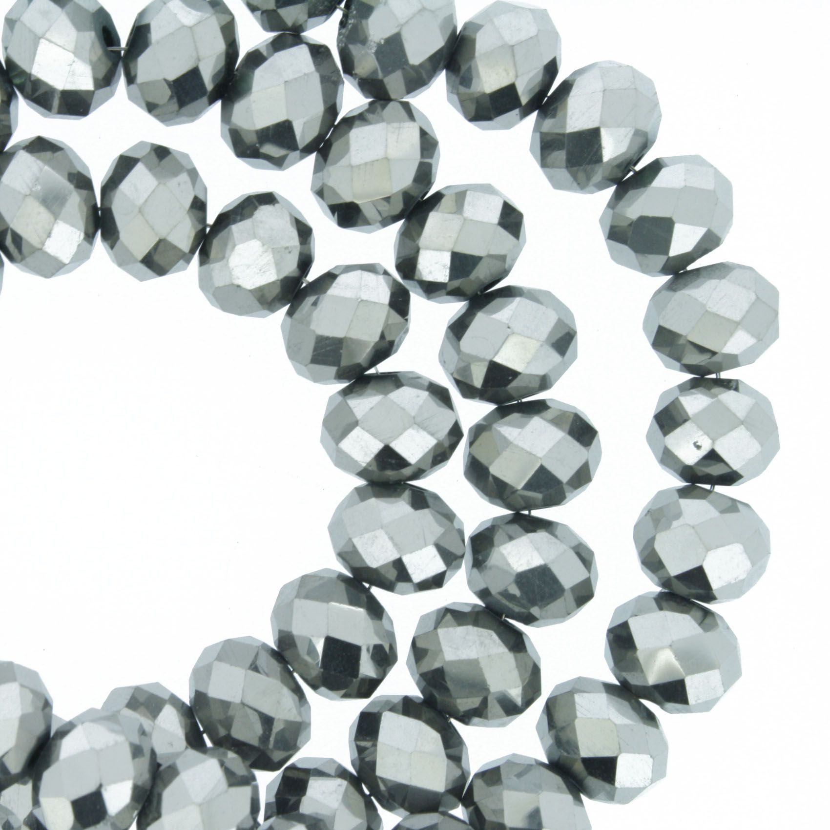 Fio de Cristal - Piatto® - Prata Escuro - 8mm  - Universo Religioso® - Artigos de Umbanda e Candomblé