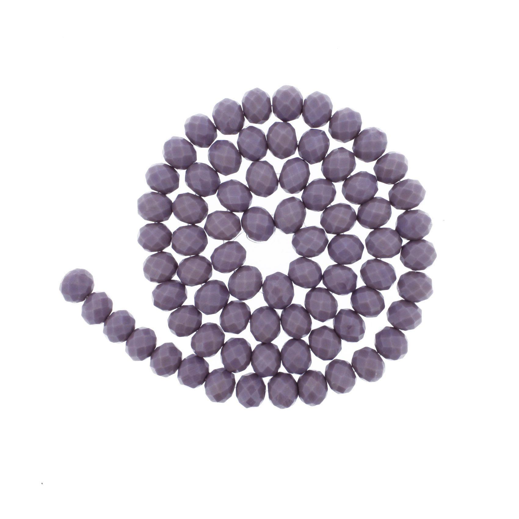 Fio de Cristal - Piatto® - Lilás - 10mm  - Universo Religioso® - Artigos de Umbanda e Candomblé