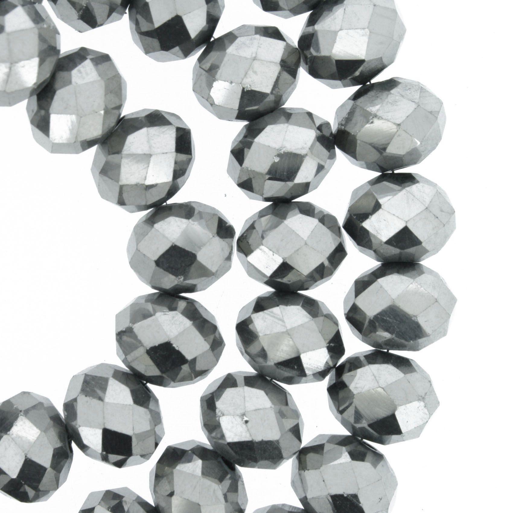 Fio de Cristal - Piatto® - Prateado - 10mm  - Universo Religioso® - Artigos de Umbanda e Candomblé