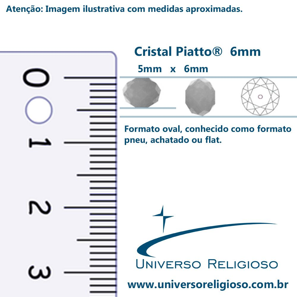 Fio de Cristal - Piatto® - Prateado - 6mm  - Universo Religioso® - Artigos de Umbanda e Candomblé