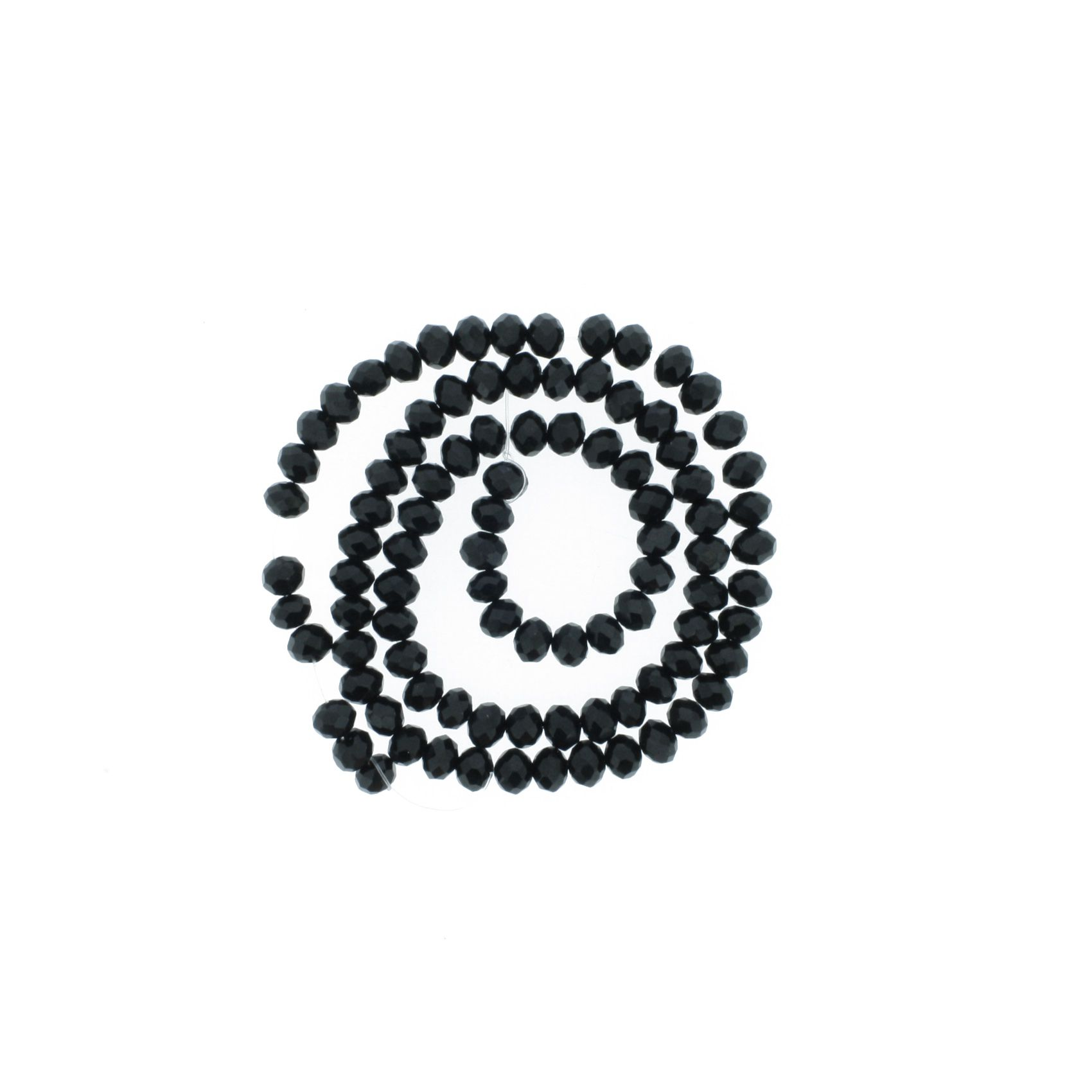 Fio de Cristal - Piatto® - Preto - 6mm  - Universo Religioso® - Artigos de Umbanda e Candomblé
