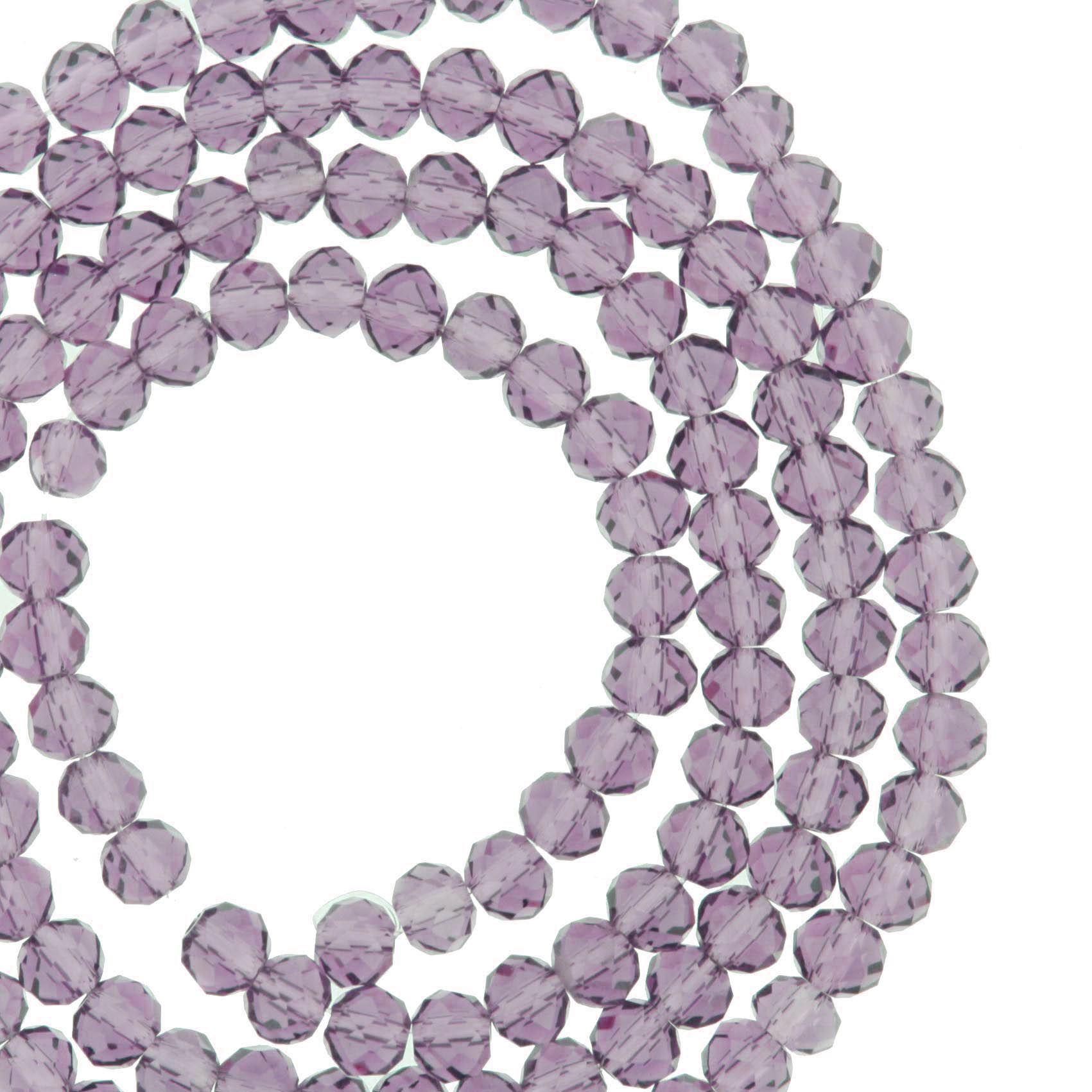 Fio de Cristal - Piatto® - Roxo Transparente - 4mm  - Universo Religioso® - Artigos de Umbanda e Candomblé