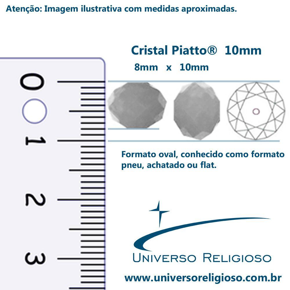 Fio de Cristal - Piatto® - Transparente Irizado - 10mm  - Universo Religioso® - Artigos de Umbanda e Candomblé