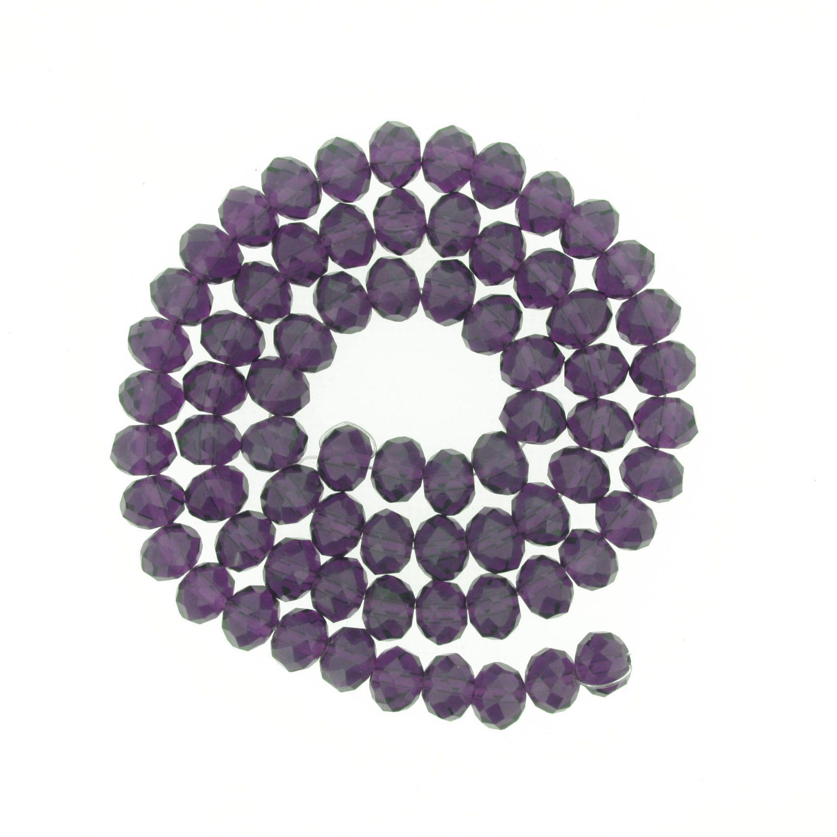 Fio de Cristal - Piatto® - Uva Transparente - 8mm  - Universo Religioso® - Artigos de Umbanda e Candomblé