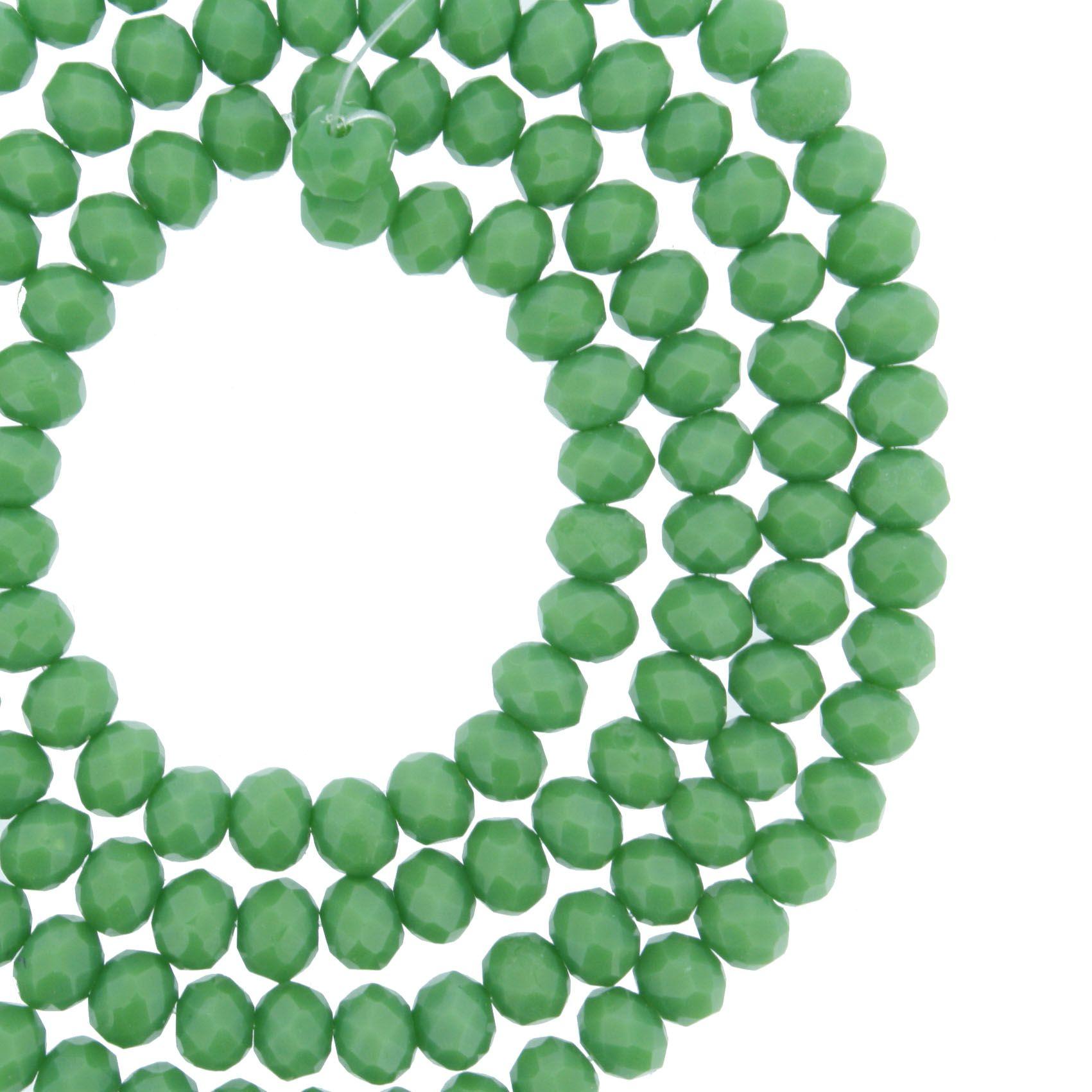 Fio de Cristal - Piatto® - Verde - 4mm  - Universo Religioso® - Artigos de Umbanda e Candomblé