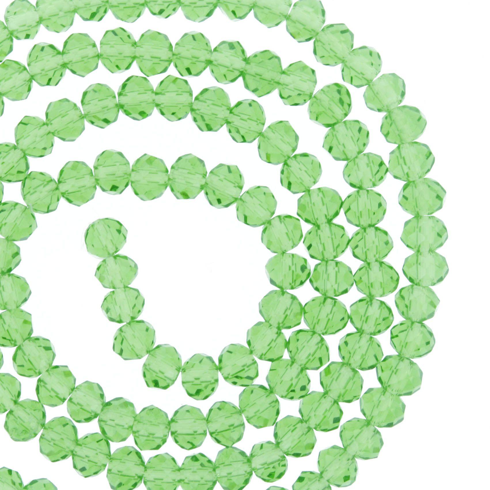 Fio de Cristal - Piatto® - Verde Claro Transparente - 4mm  - Universo Religioso® - Artigos de Umbanda e Candomblé
