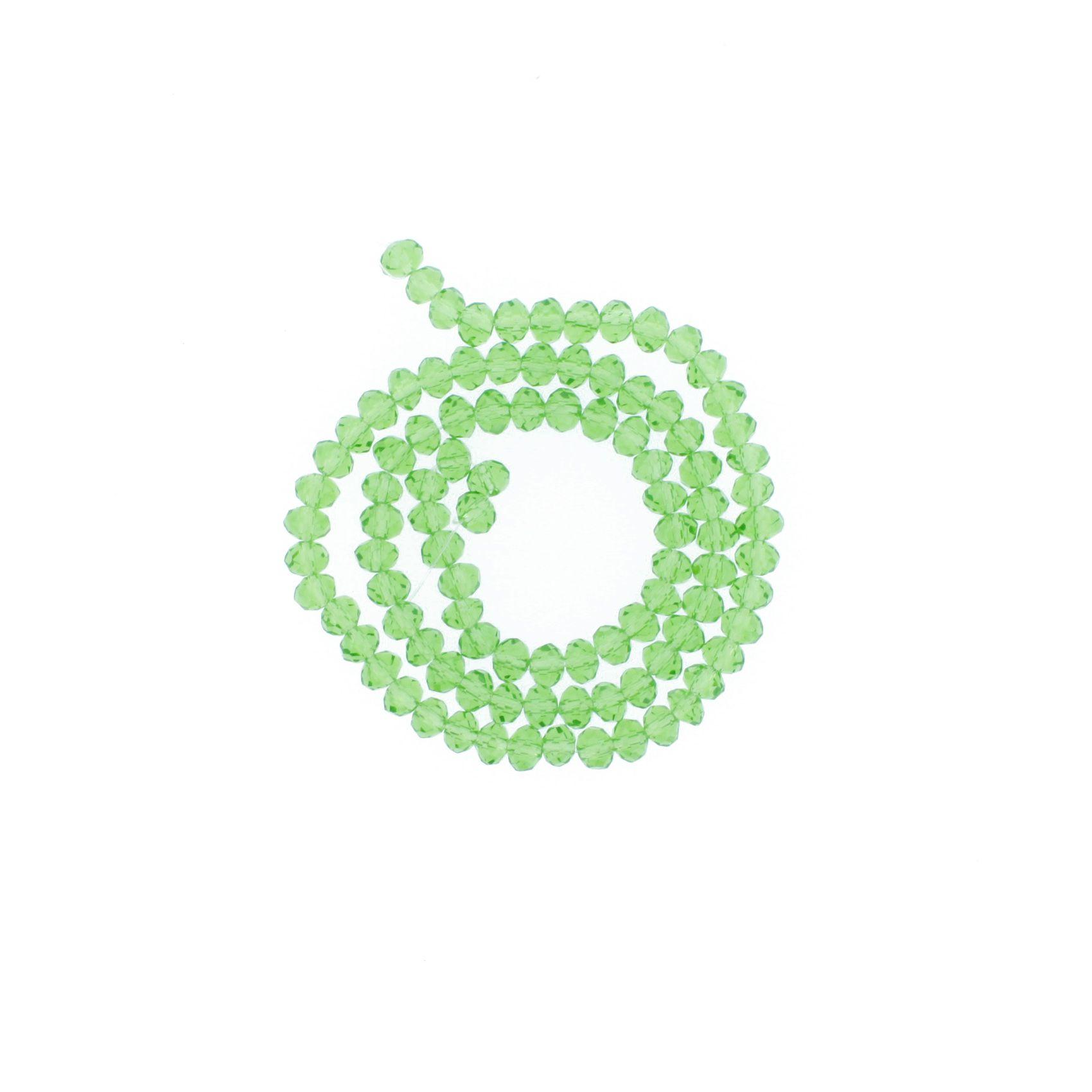Fio de Cristal - Piatto® - Verde Claro Transparente - 6mm  - Universo Religioso® - Artigos de Umbanda e Candomblé