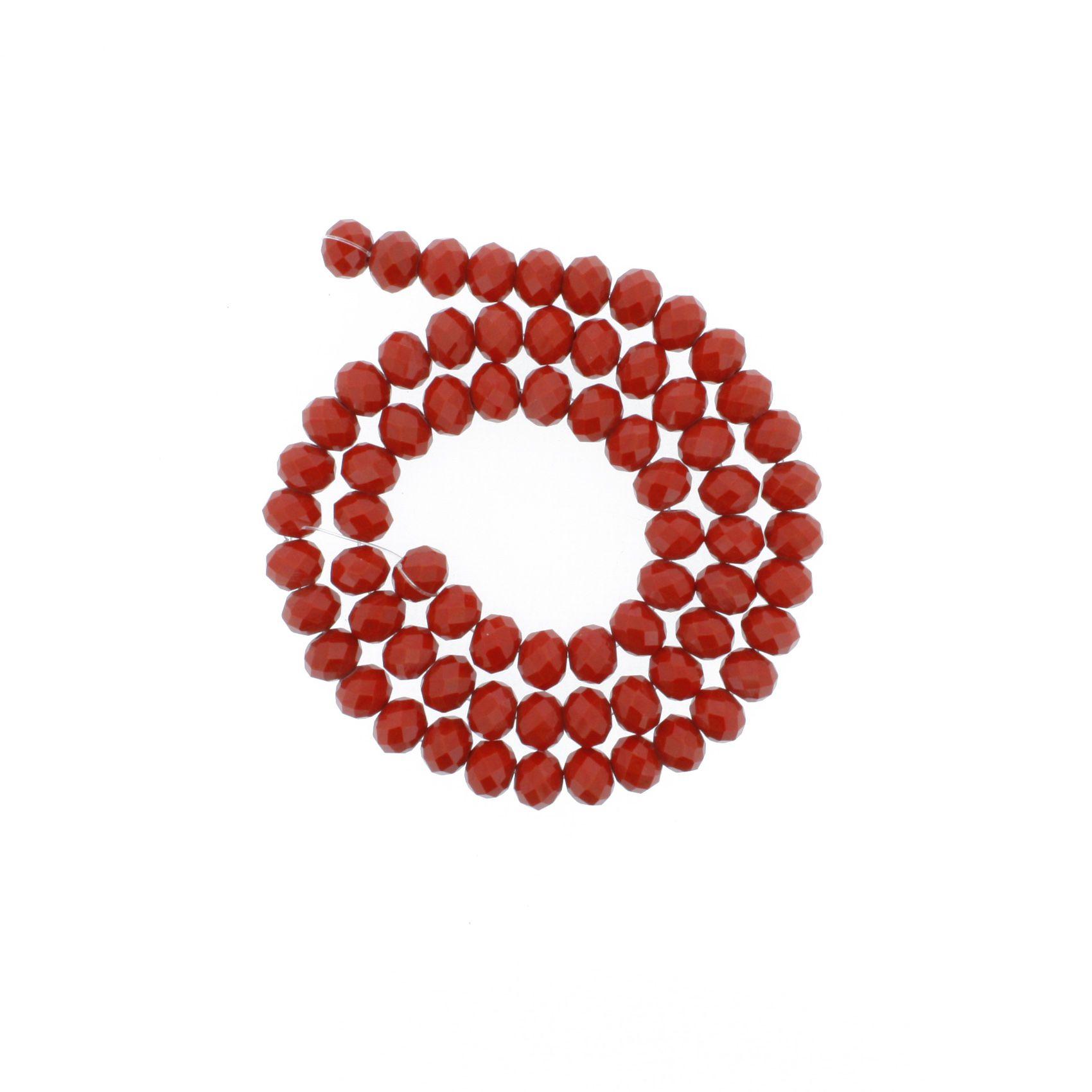 Fio de Cristal - Piatto® - Vermelho - 8mm  - Universo Religioso® - Artigos de Umbanda e Candomblé