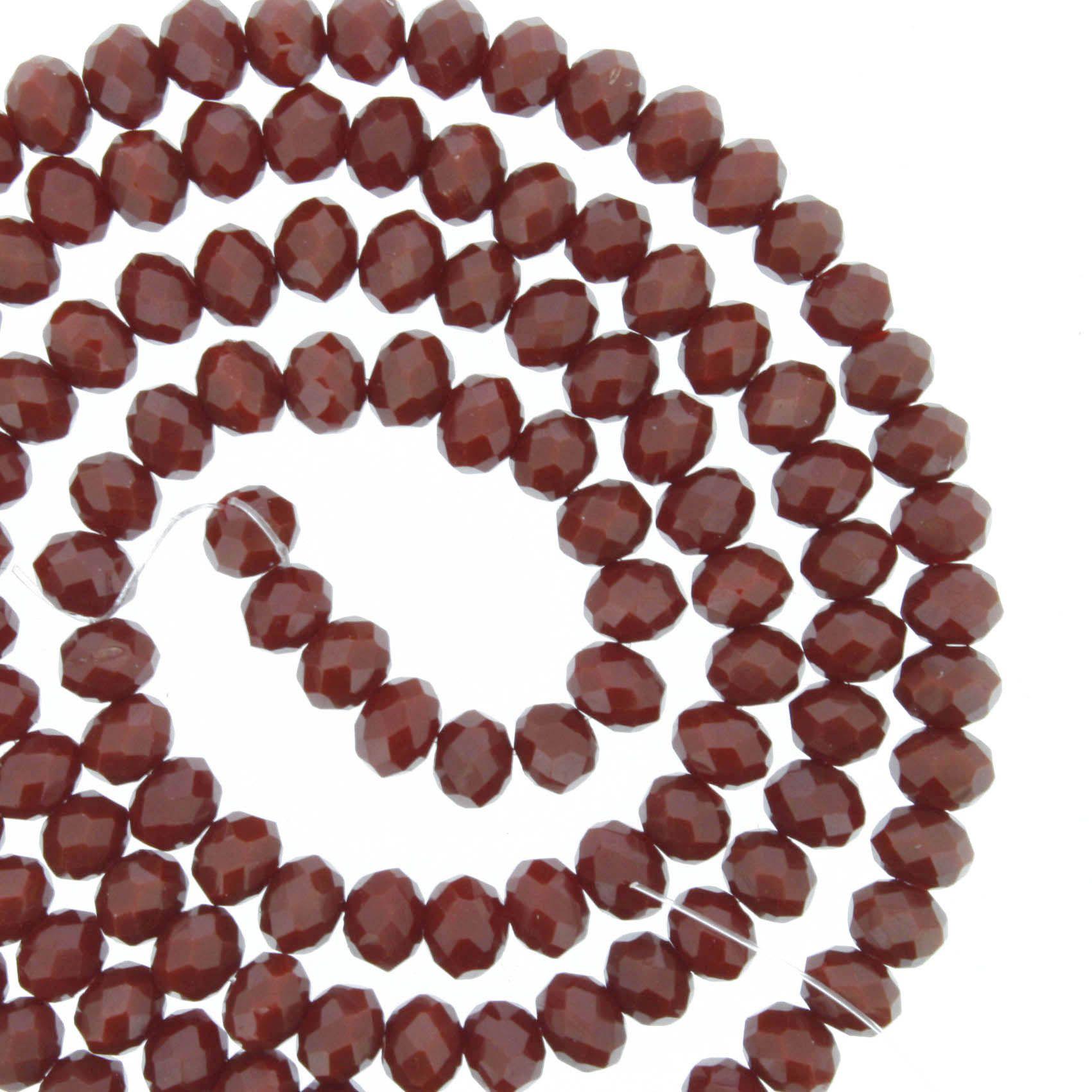 Fio de Cristal - Piatto® - Vermelho Escuro - 4mm  - Universo Religioso® - Artigos de Umbanda e Candomblé