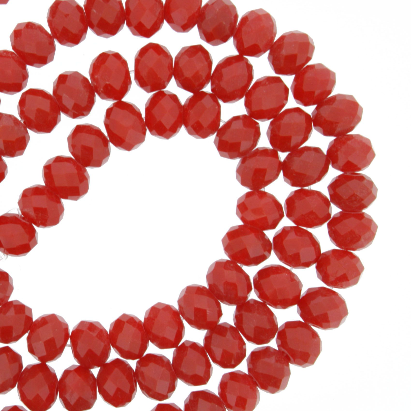 Fio de Cristal - Piatto® - Vermelho Transparente - 6mm  - Universo Religioso® - Artigos de Umbanda e Candomblé