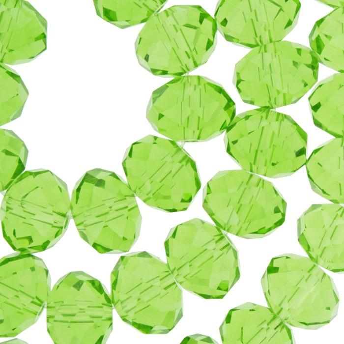 Fio de Cristal - Verde Transparente - 12mm - Pneu  - Universo Religioso® - Artigos de Umbanda e Candomblé