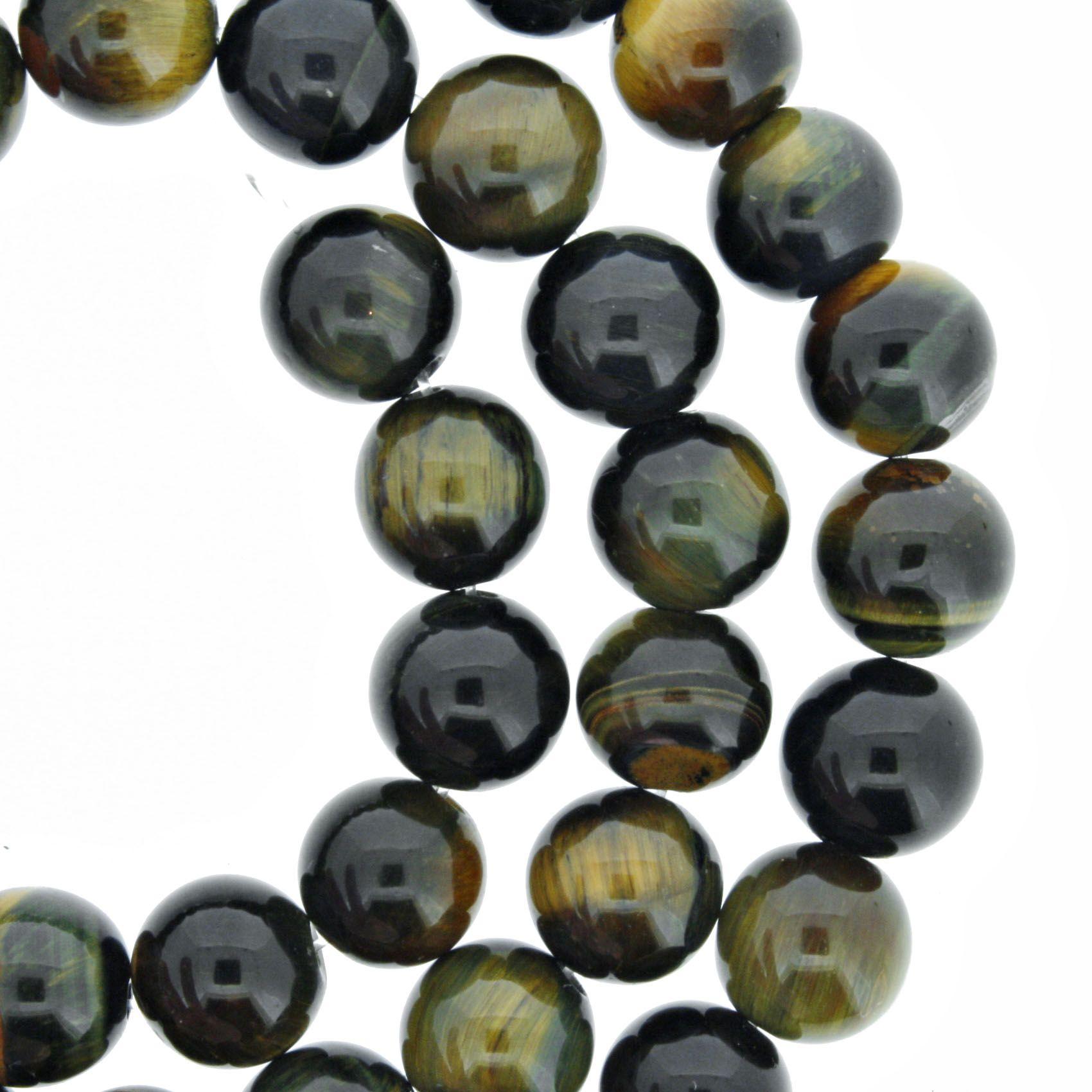 Fio de Pedra - Pietra® - Olho de Falcão - 8mm  - Universo Religioso® - Artigos de Umbanda e Candomblé