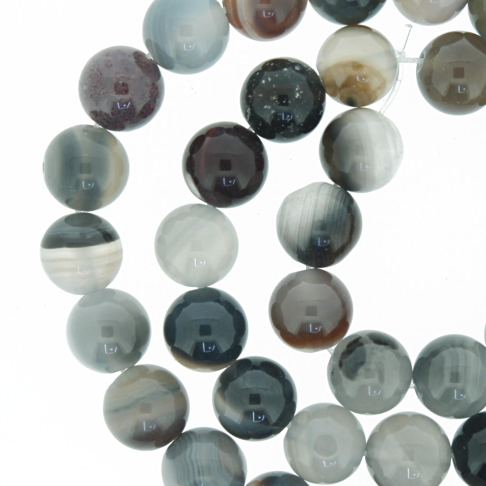 Fio de Pedra - Pietra® - Ágata Botswana - 8mm  - Universo Religioso® - Artigos de Umbanda e Candomblé
