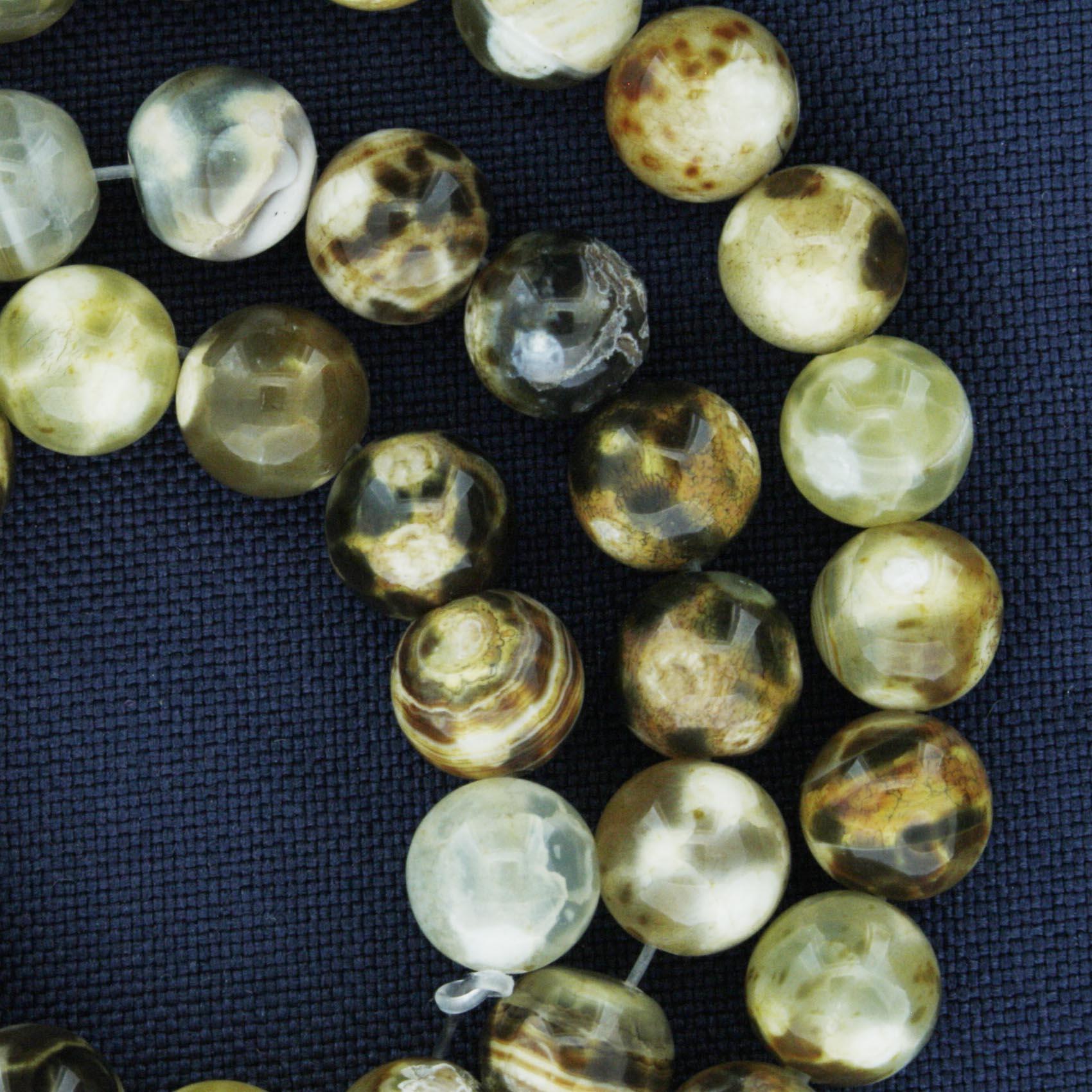 Fio de Pedra - Pietra® - Ágata Mesclada - 8mm  - Universo Religioso® - Artigos de Umbanda e Candomblé