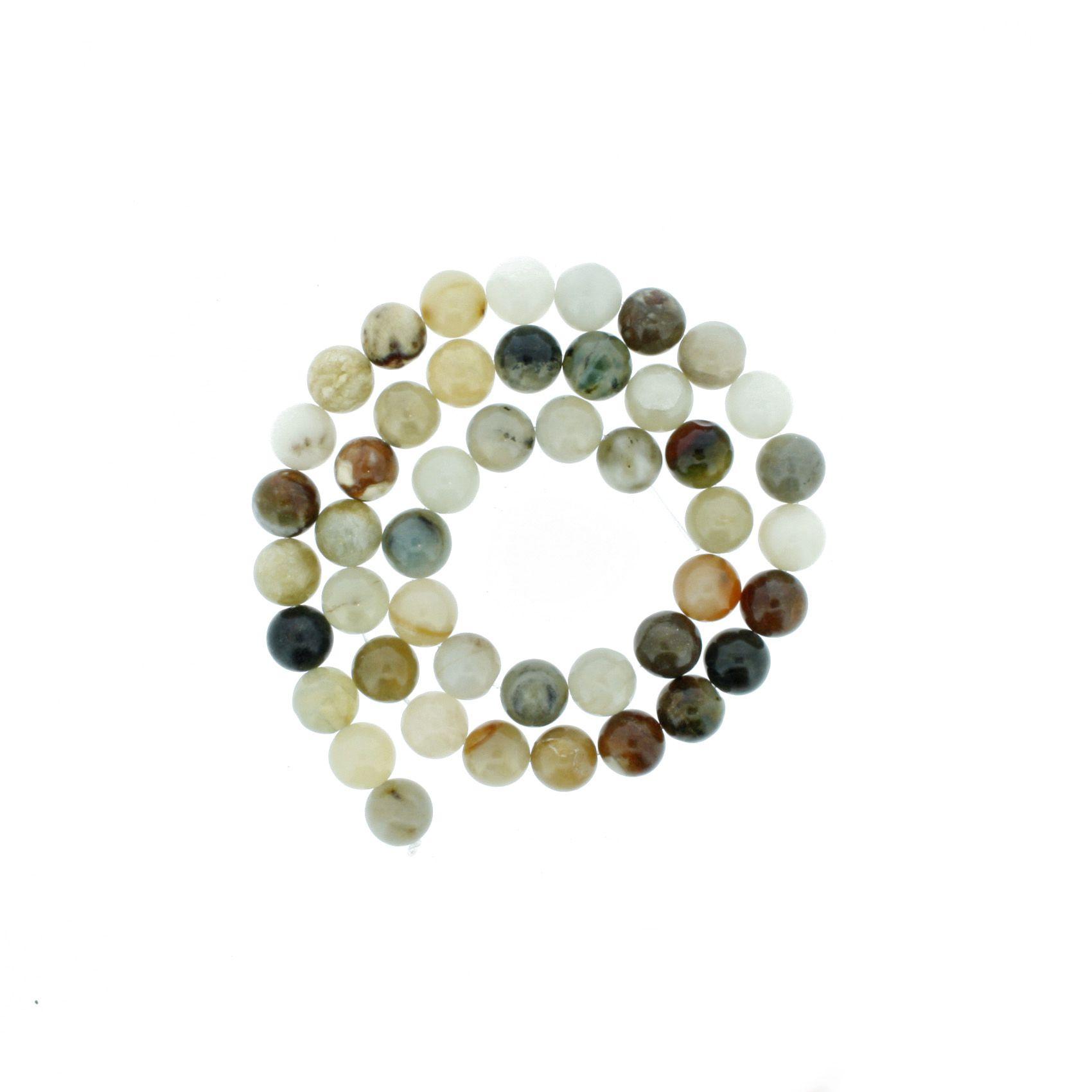 Fio de Pedra - Pietra® - Ágata Mix Claro - 8mm  - Universo Religioso® - Artigos de Umbanda e Candomblé
