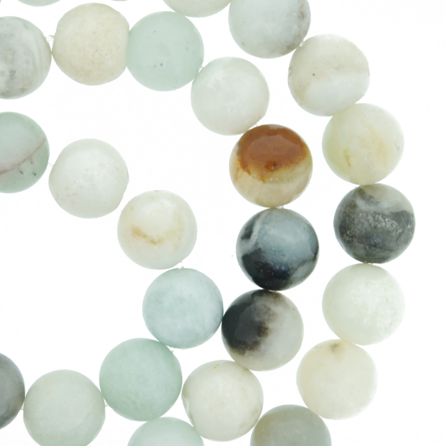 Fio de Pedra - Pietra® - Amazonita - 8mm  - Universo Religioso® - Artigos de Umbanda e Candomblé