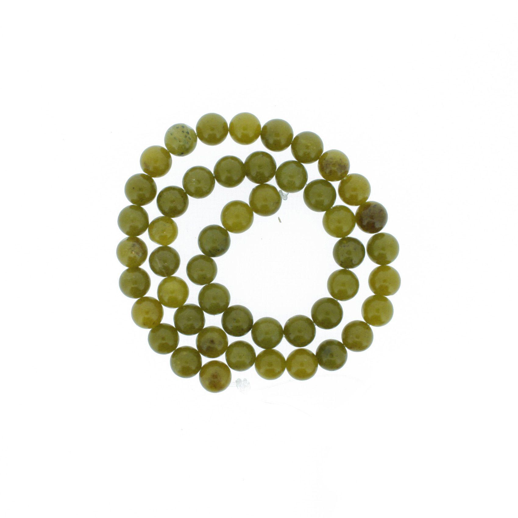 Fio de Pedra - Pietra® - Jade Oliva - 8mm  - Universo Religioso® - Artigos de Umbanda e Candomblé