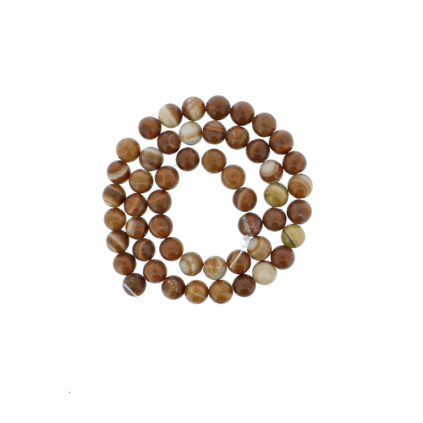 Fio de Pedra - Pietra® - Jaspe Brown - 8mm  - Universo Religioso® - Artigos de Umbanda e Candomblé