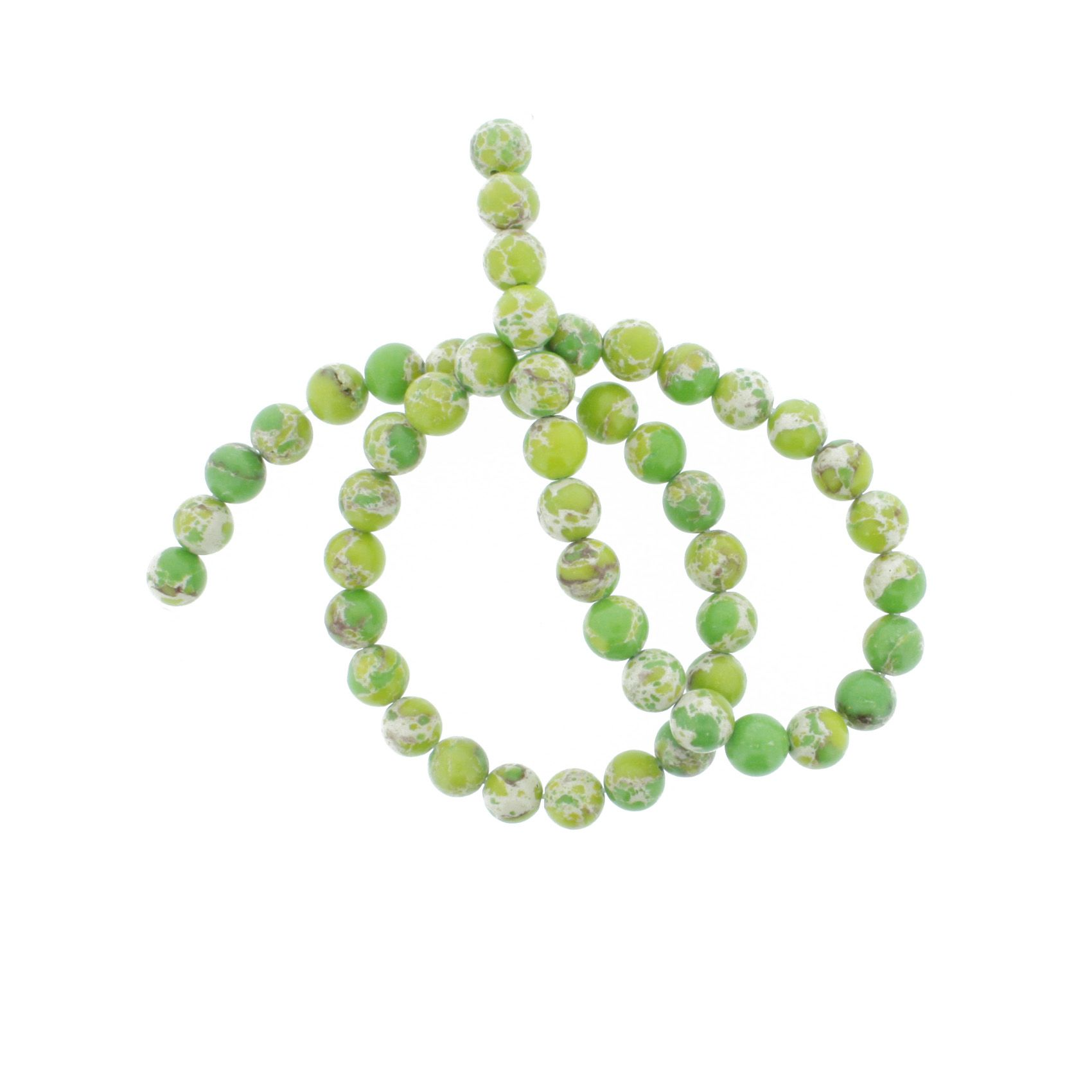 Fio de Pedra - Pietra® - Jaspe Imperial Verde - 8mm  - Universo Religioso® - Artigos de Umbanda e Candomblé