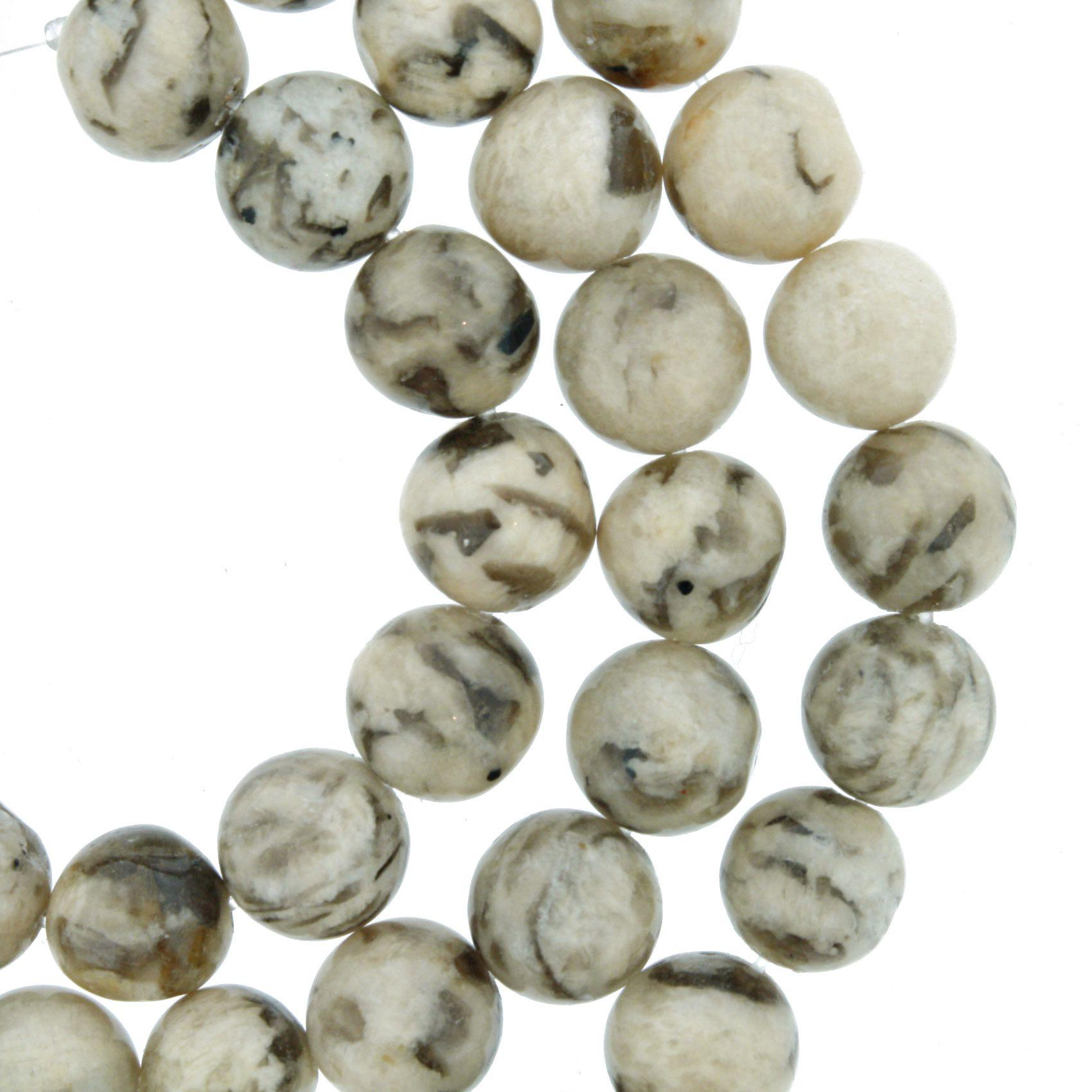Fio de Pedra - Pietra® - Jaspe Vanilla - 8mm  - Universo Religioso® - Artigos de Umbanda e Candomblé