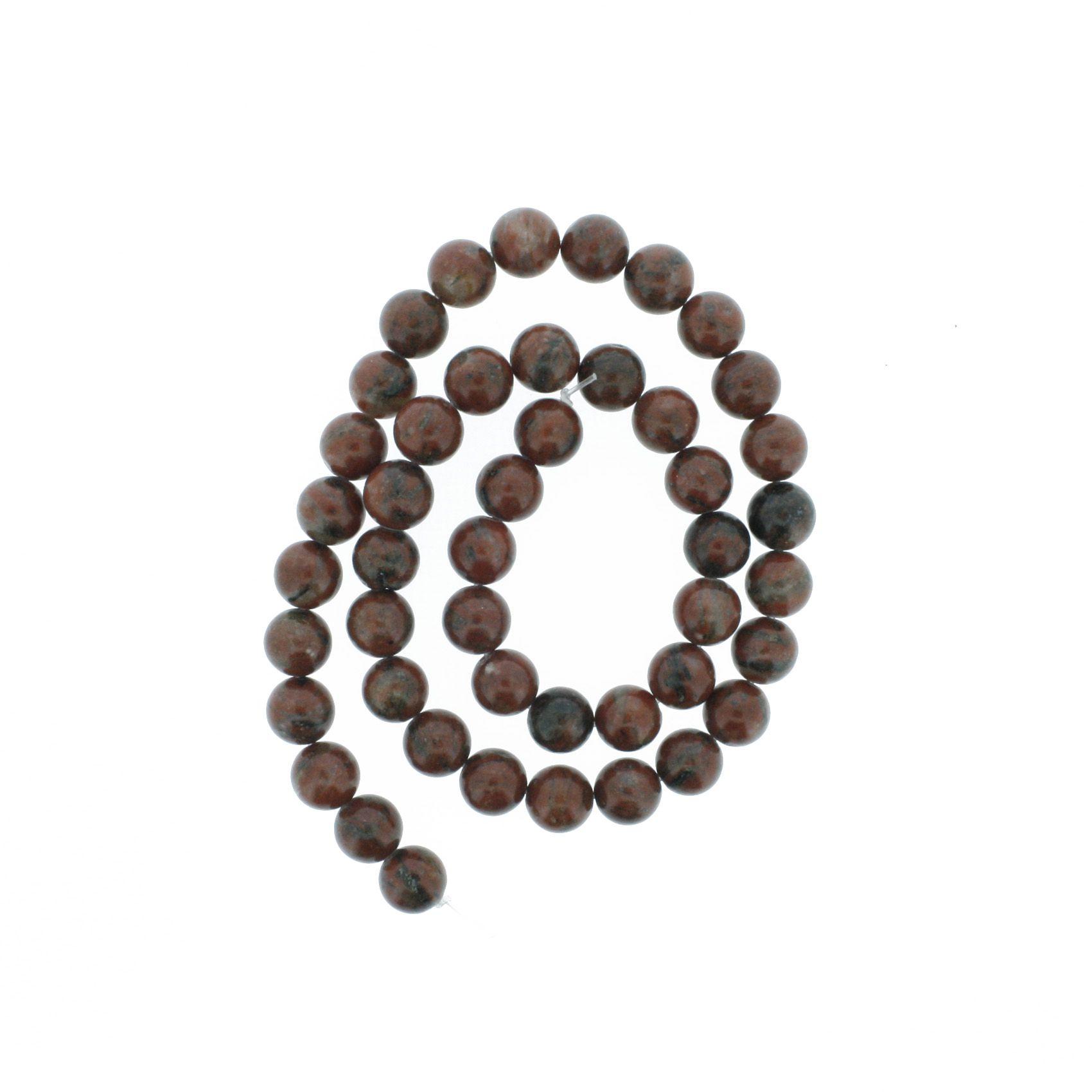 Fio de Pedra - Pietra® - Jaspe Vermelha - 8mm  - Universo Religioso® - Artigos de Umbanda e Candomblé