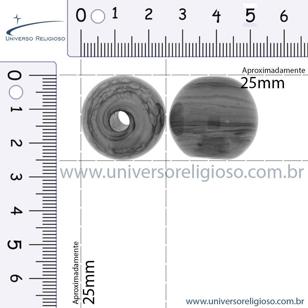 Firma Bola GG - Branca - 25mm  - Universo Religioso® - Artigos de Umbanda e Candomblé
