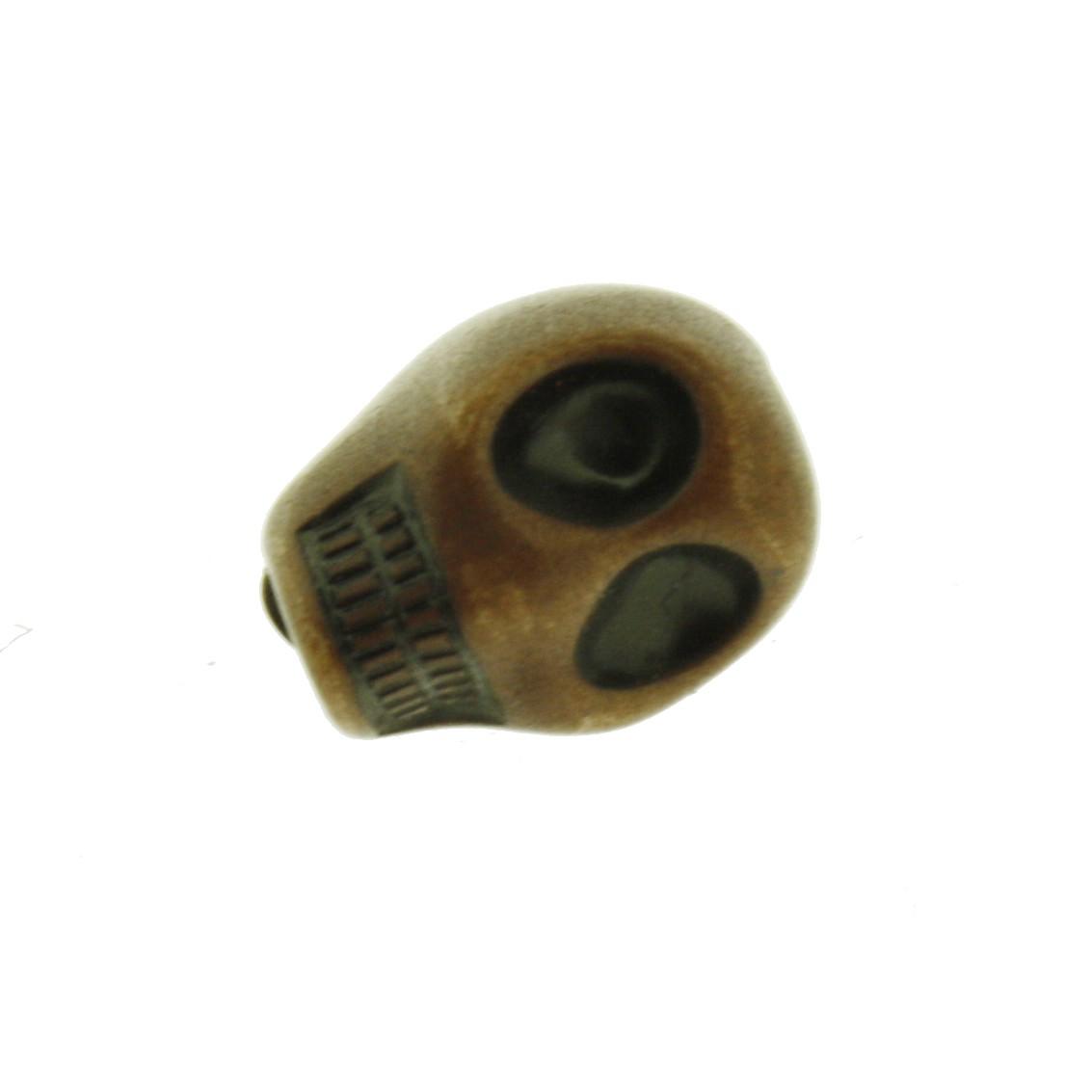 Firma Caveira - Resina Plástica - Pequena Marrom - 10 Peças  - Universo Religioso® - Artigos de Umbanda e Candomblé