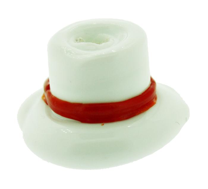 Firma de Vidro - Chapéu Branco e Vermelho  - Universo Religioso® - Artigos de Umbanda e Candomblé
