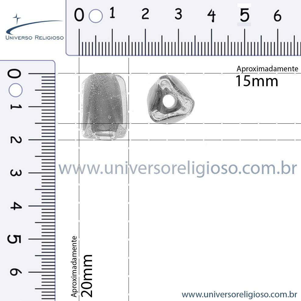Firma Miolo Prisma - Branca - 20mm  - Universo Religioso® - Artigos de Umbanda e Candomblé