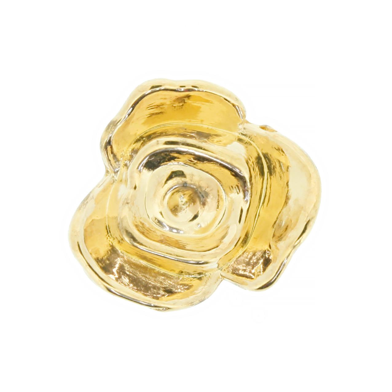Flor ABS - Dourada - 17mm  - Universo Religioso® - Artigos de Umbanda e Candomblé