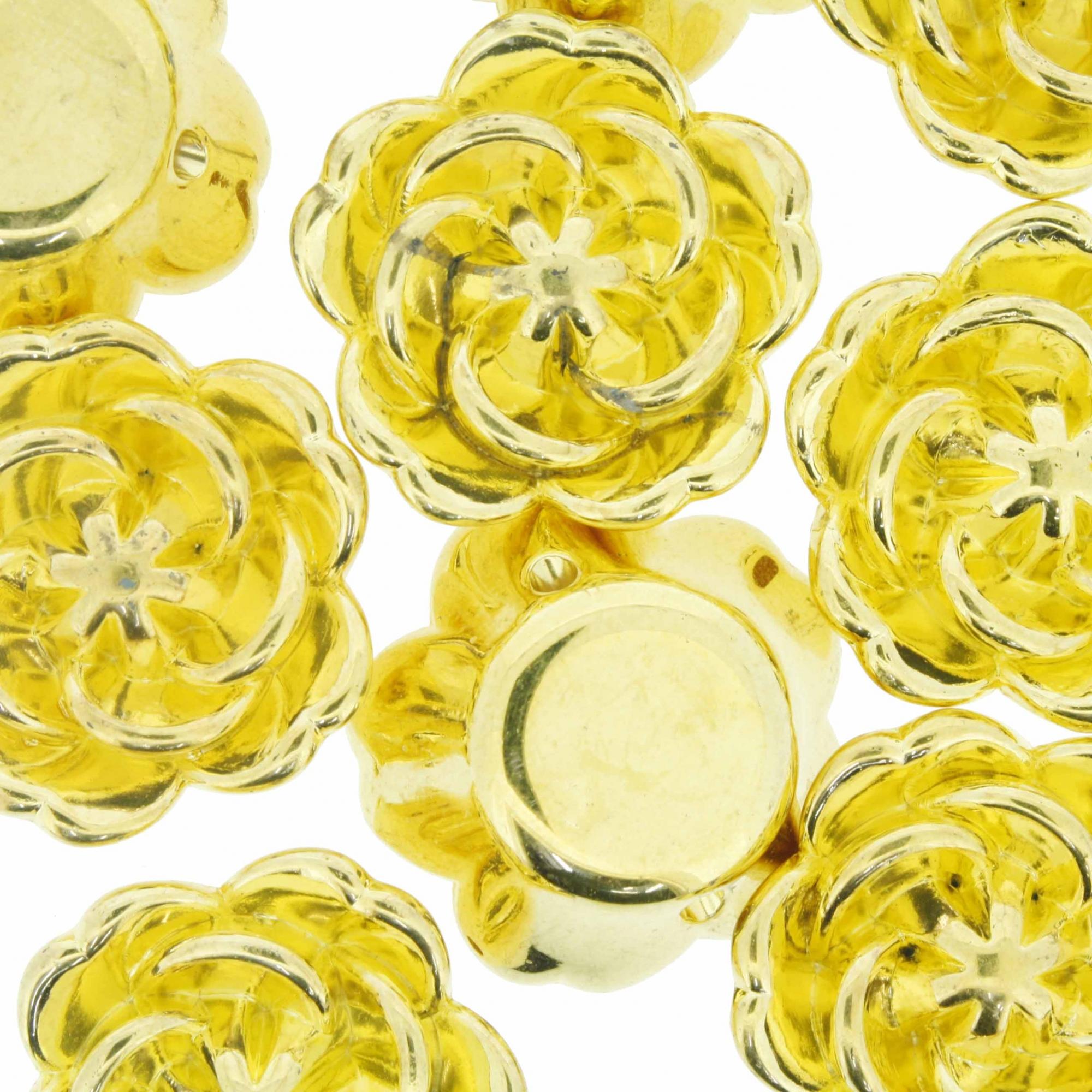 Flor ABS - Dourada - 25mm  - Universo Religioso® - Artigos de Umbanda e Candomblé