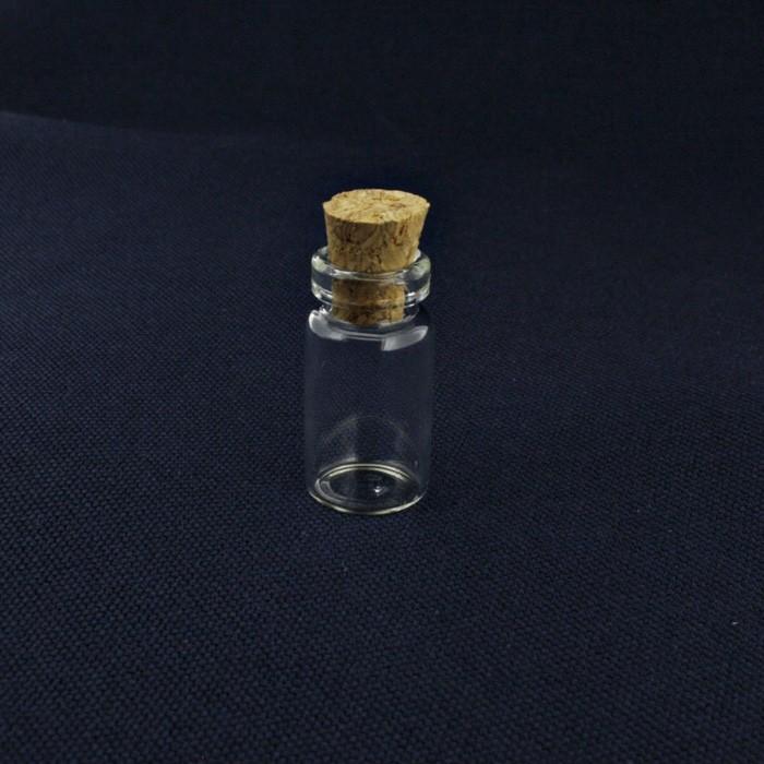 Garrafinha de Vidro com Rolha - 11x22mm - 01 Peça  - Universo Religioso® - Artigos de Umbanda e Candomblé