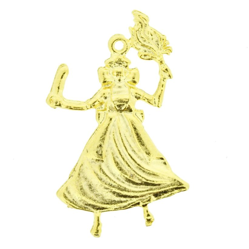 Iansã - Dourado - 20mm  - Universo Religioso® - Artigos de Umbanda e Candomblé