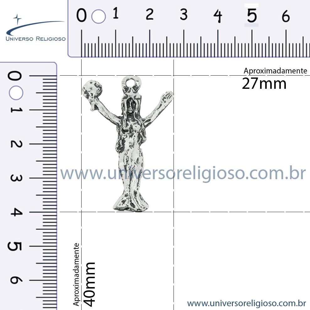 Iemanjá - Níquel Velho - 40mm  - Universo Religioso® - Artigos de Umbanda e Candomblé