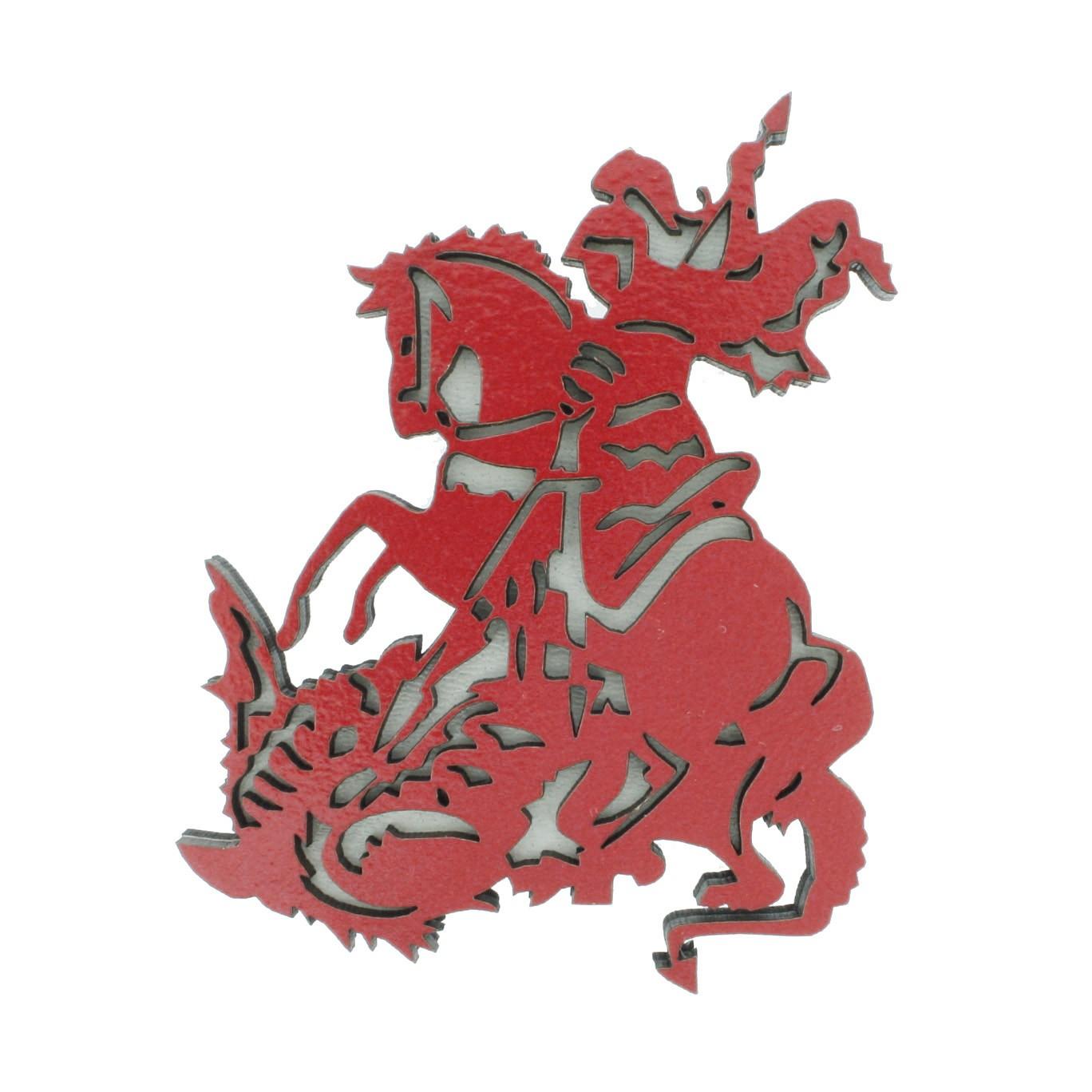 Imã de Madeira - São Jorge  - Universo Religioso® - Artigos de Umbanda e Candomblé