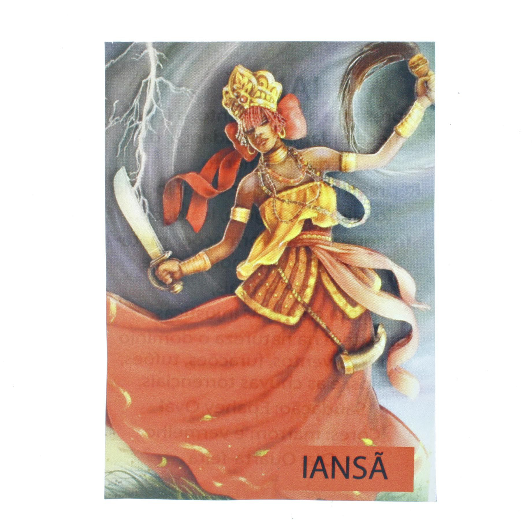 Medalha Iansã + Folheto  - Universo Religioso® - Artigos de Umbanda e Candomblé
