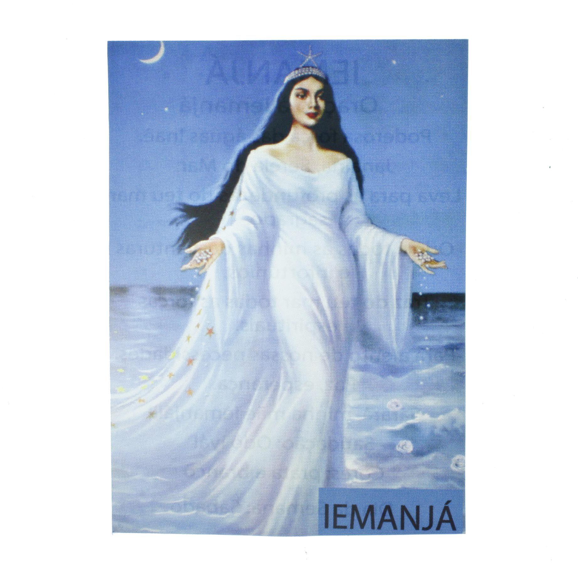 Medalha Iemanjá + Folheto  - Universo Religioso® - Artigos de Umbanda e Candomblé