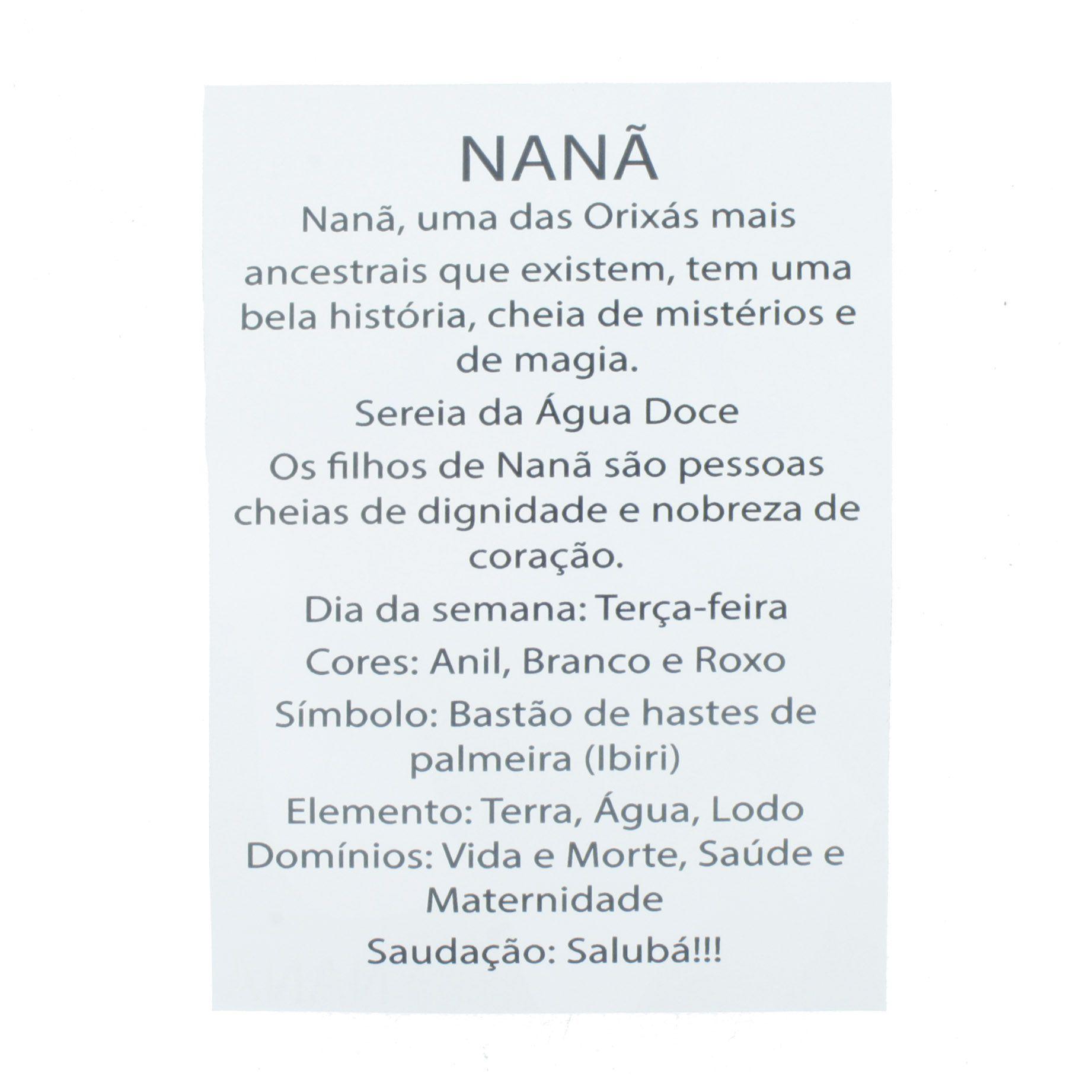 Medalha Nanã + Folheto  - Universo Religioso® - Artigos de Umbanda e Candomblé