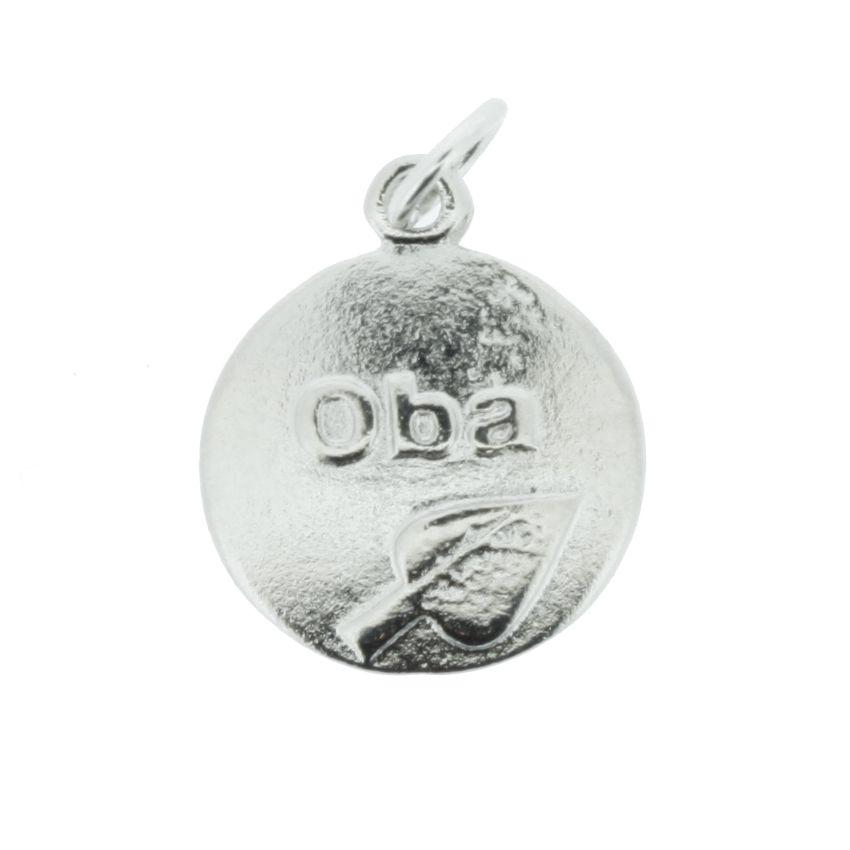 Medalha Obá - Níquel - 20mm  - Universo Religioso® - Artigos de Umbanda e Candomblé