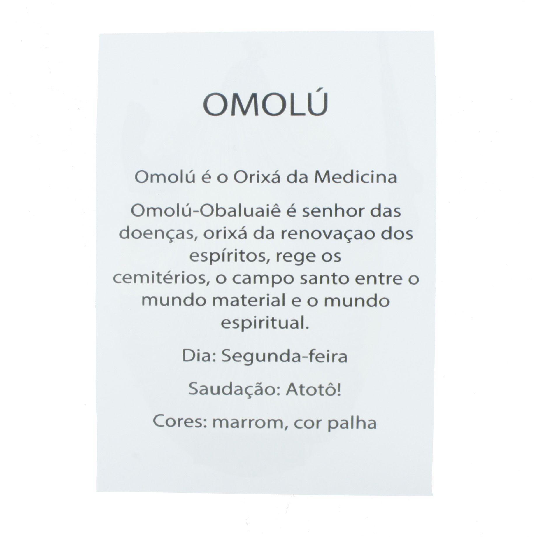 Medalha Omulu + Folheto  - Universo Religioso® - Artigos de Umbanda e Candomblé