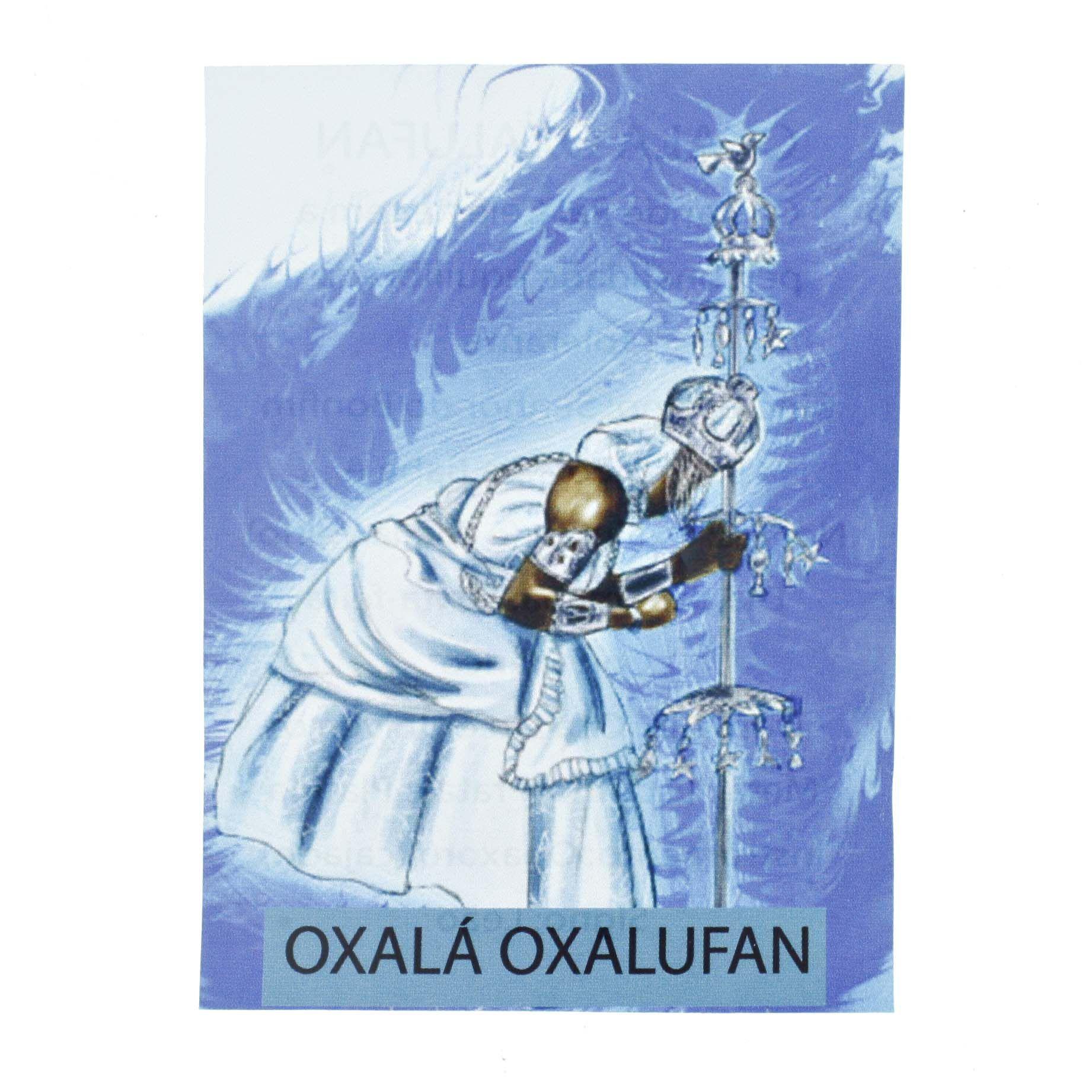 Medalha Oxalá Oxalufan + Folheto  - Universo Religioso® - Artigos de Umbanda e Candomblé