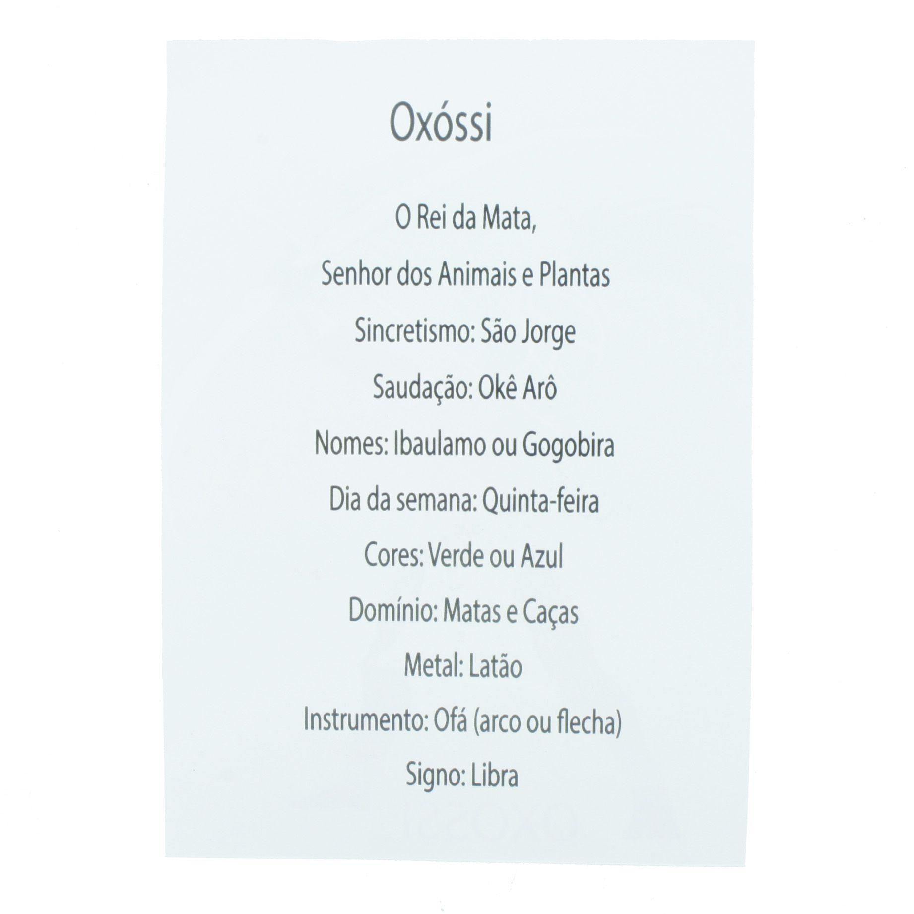 Medalha Oxóssi + Folheto  - Universo Religioso® - Artigos de Umbanda e Candomblé