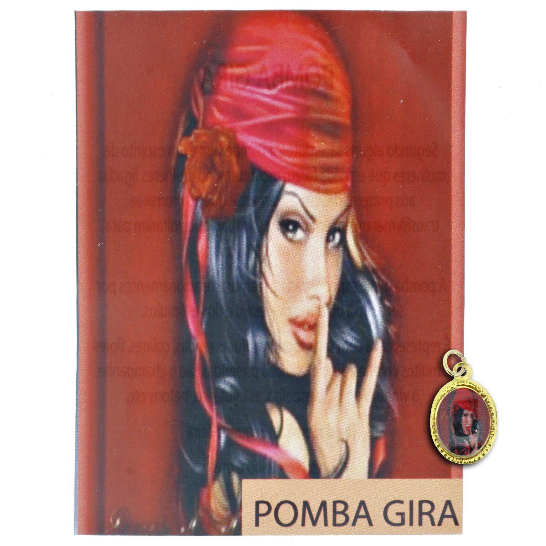 Medalha Pombagira + Folheto  - Universo Religioso® - Artigos de Umbanda e Candomblé