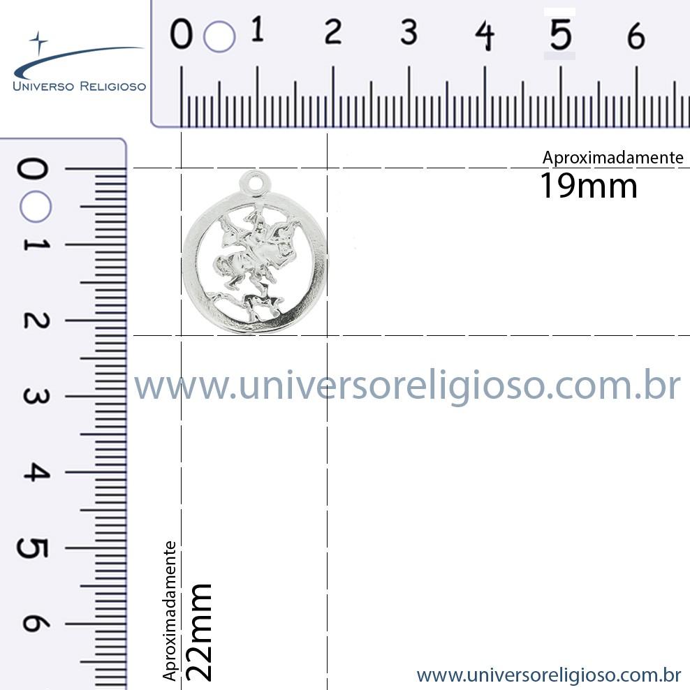 Medalha São Jorge - Níquel - 22mm  - Universo Religioso® - Artigos de Umbanda e Candomblé